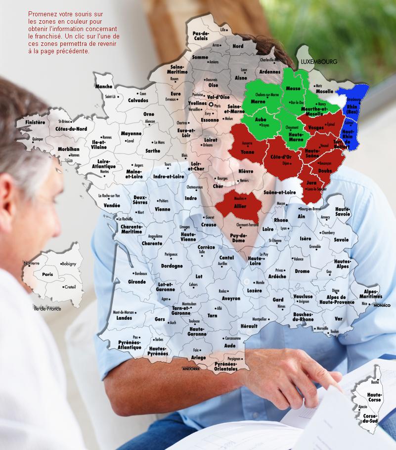 Carte des franchisés